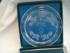 Wedding Day Special Edition Collectors Plate, etched Bohemia crystal, boxed