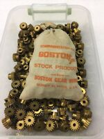 "BOSTON GEAR BRASS Y-2416 SPUR PINION GEAR CLOCK TELESCOPE MODEL 3/16"" BORE HOLE"