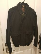 Timberland Suede Leather Jacket Black Size L