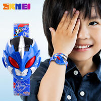 Children Digital Creative Robot Watch Boys Girls Kids Toy Rubber Wristwatch