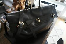Men's 100% Authentic Trussardi Leather Overnight Doctors Bag Burberry