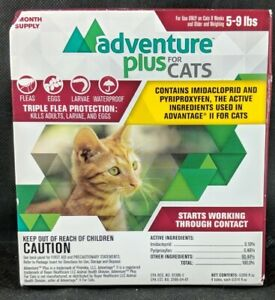 Adventure Plus for Cats (4 Month Supply) for Cats 5-9 Lbs New