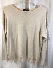 Lane Bryant Cream Beige  Pullover Sweater Lace Trim Hem Plus Size 18/20