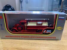 LOMO AVM 1:43 ZIS PMZ 6 fire truck red USSR RUSSIA die cast ladder GAZ