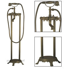 Antique Bathroom Floor Free Standing Bathtub Mixer Tap Faucet With Hand Shower