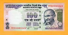 India Replacement Banknote Gandhi UNC 100 Rupees P-105h* 2013