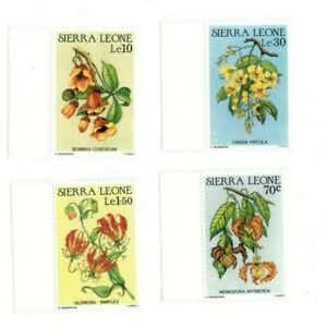 VINTAGE CLASSICS - Sierra Leone - 773-80 Flowers - Set Of 4 - MNH