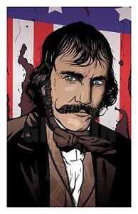"Original ""Native"" Bill the Butcher Gangs of New York Art Print Mondo Blu Poster"