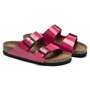 Birkenstock Arizona Women Sandals   slipper   Birko-Flor, Patent - NEW