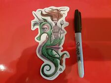 Low Brow Kustom Kulture Art Autocollant Hot Rod Voiture Autocollant von Franko Shag Mermaid
