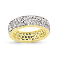 9CT GOLD LADIES CUBIC ZIRCONIA CZ FULL ETERNITY BAND WEDDING RING GIFT BOX