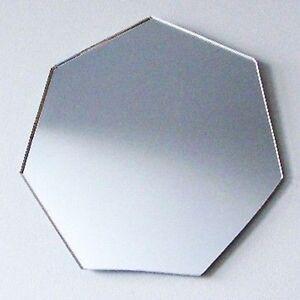 Heptagon Shaped Acrylic Mirrors - Various Sizes