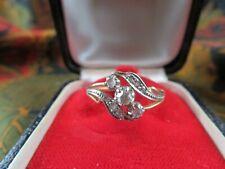 elegante ancienne bague or massif 18cts et diamants epoque 1900