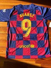 Barcelona Luis Suarez Signed Soccer Jersey - Auto Beckett BAS COA
