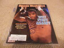 1986 Sugar Ray Leonard Boxing Autographed Signed Sports Illustrated COA
