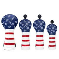 Stars and Stripes Golf Driver Headcover Fairway Wood Rescue Hybrid Head Cover