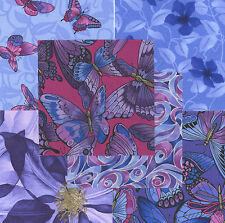 """Floral Summer's Day 30 4"""" fabric squares quilting cotton quilt butterflies"""