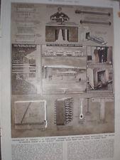 Applicazioni di pre-ha sottolineato in cemento G H Davis vecchia stampa 1949