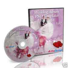 DIGITAL WEDDING ALBUM -101 PAGES TEMPLATES on DVD Vol 2