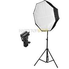 80cm Octagon Umbrella Reflect Diffuser + Light Stand + Flash Mount fr Speedlight