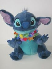 "Disney Store Lilo & Stitch As Dog w/ Lei 14"" Plush Stuffed Animal Flowers"