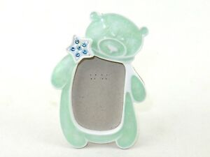 """Photo Frame, Baby's First Photo ~ Teddy Bear Design, 2""""x3"""" Photo, Pink or Green"""