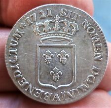 R1 BEAU 1/3 ECU DE FRANCE LOUIS XV 1721 PARIS