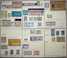 Collection of State Taxpaid Revenue Stamps on Exhibition Pages