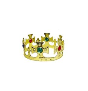 Adult Kings Crown Prince Jewelled Royalty Mens Ladies Fancy Dress Accessory QK