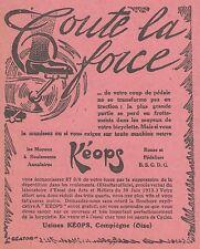 Z8297 Moyeux KEOPS - Pubblicità d'epoca - 1914 Old advertising