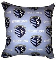 Sporting Pillow Kansas City Sporting  MLS Pillow Handmade In USA Soccer Pillow