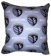 Sporting Pillow Kansas City Sporting  MLS Pillow Handmade In USA Soccer Pillow