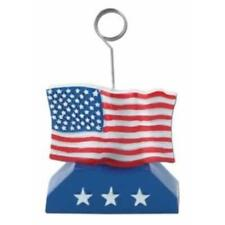 Patriotic American Flag Photo or Balloon Holder