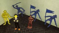Vintage Marx CIVIL WAR & mixed LOT of 6 Plastic Figures Soldier Gangster VG+/FN+