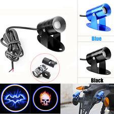 Motor Bike Door Step Shadow Shell Light Led Laser Projector Blue Bat Skull Logo