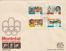 1976 Tanzania Montreal Olympics  First Day Cover
