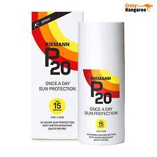 3 X 200ml Riemann P20 Once a Day Sun Protection Spray SPF 15