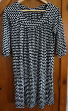 Marks and Spencer Black and White Dress 16