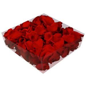 Echte konservierte Rosenblätter - Streukörbchen Hochzeit Tischdeko - rot
