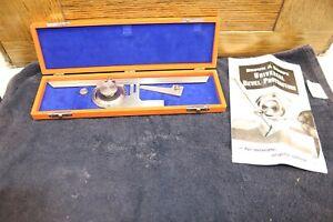 """Vintage Brown & Sharp No.496 Universal Bevel Protractor & Original Case 12"""""""
