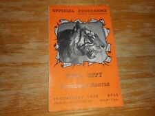 HULL CITY  v  PLYMOUTH ARGYLE  1952/3  ~  OCTOBER 25th   VINTAGE   **FREE POST**