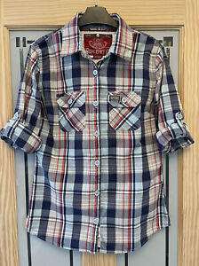 SUPERDRY. Womens Check Shirt. Size L. Approx Uk 12. VGC.