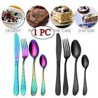 Multicolor Stainless Steel Utensils Cutlery Teaspoon Steak Fork Tableware Spoon