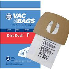 12 Bags for Dirt Devil Can Vac Vacuum Type F