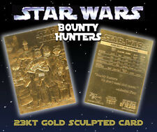 STAR WARS Bounty Hunters Genuine 23K GOLD CARD * $8.95 Officially Licensed