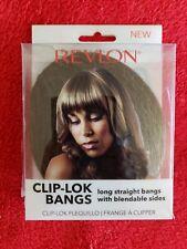 NEW Revlon Clip Lok Bangs Hair Extensions Medium Brown