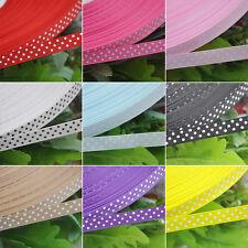 """3/8"""" Upick 5y Lot Color Grosgrain Ribbon Print Dots Appliques/Craft/Wedding"""