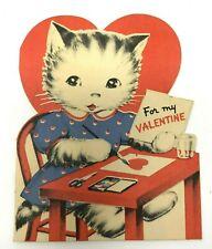 1930s adorable anthropomorphic kitty cat valentine Norcross