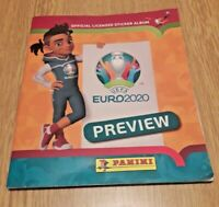 UEFA Euro 2020 preview Panini orange full complete sticker album 528 version VGC