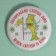 1981 Trempealeau Wisconsin Catfish Days Fishing Club Button.Free Shipping!